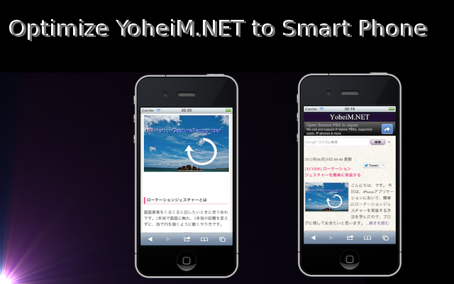 Optimize YoheiM.NET to Smart Phone
