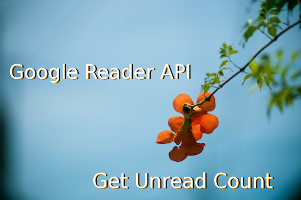 google reader api get unread count.
